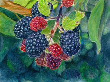 "Load image into Gallery viewer, Faith, Hope, Love: Blackberries Print - ""Love"""