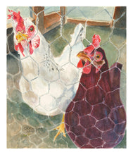"Load image into Gallery viewer, Chicken Print, ""All Cooped Up: that COVID Feeling"""