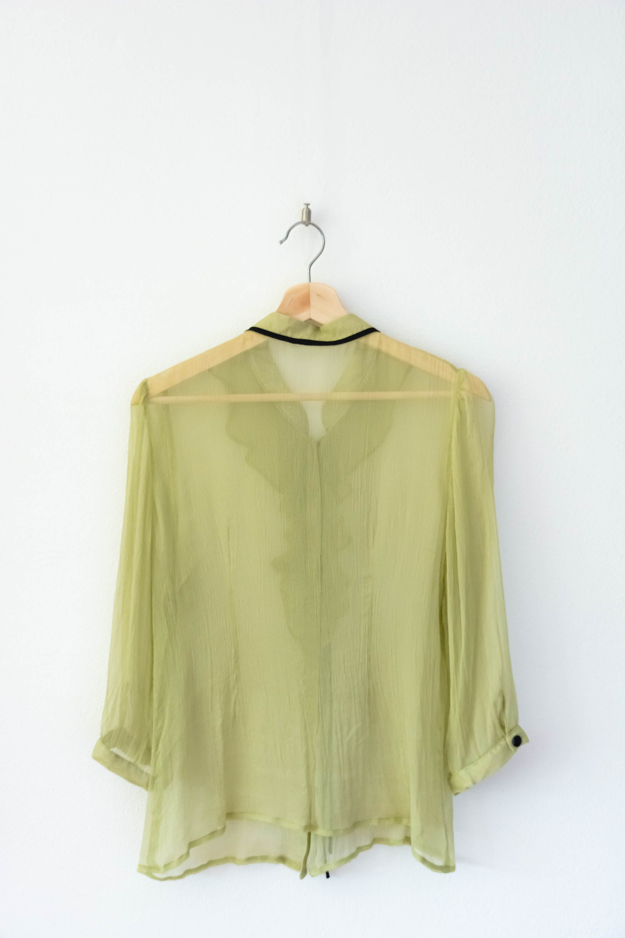 Sheer green shirt S