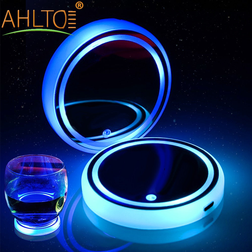 2X Car Dome LED Cup Holder Interior