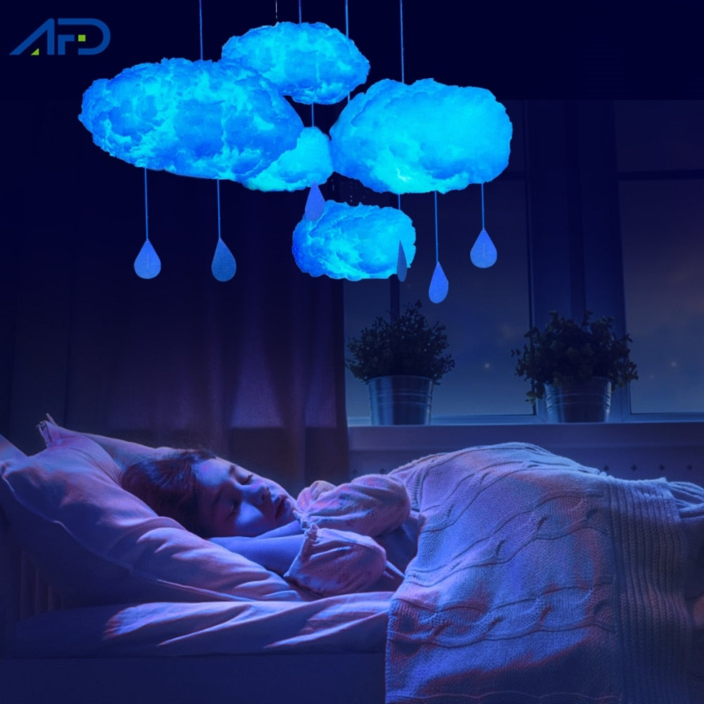 Led Cloud Lights Cotton Cloud Shape Lamp