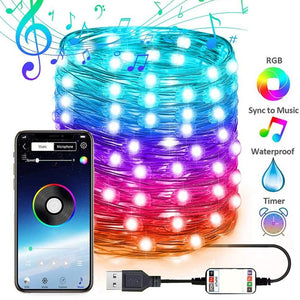 LED Lights Smart Bluetooth Personalized String Lights