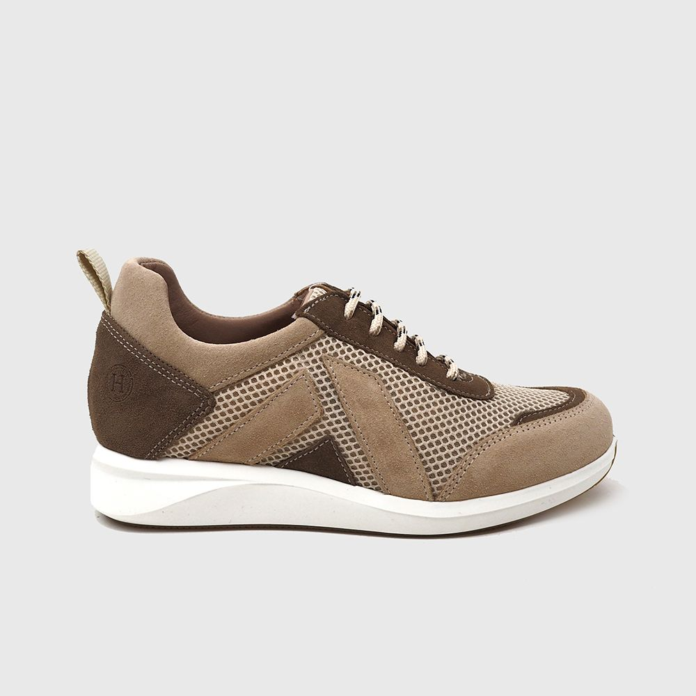 Sneakers Farger Suede and Textile beige