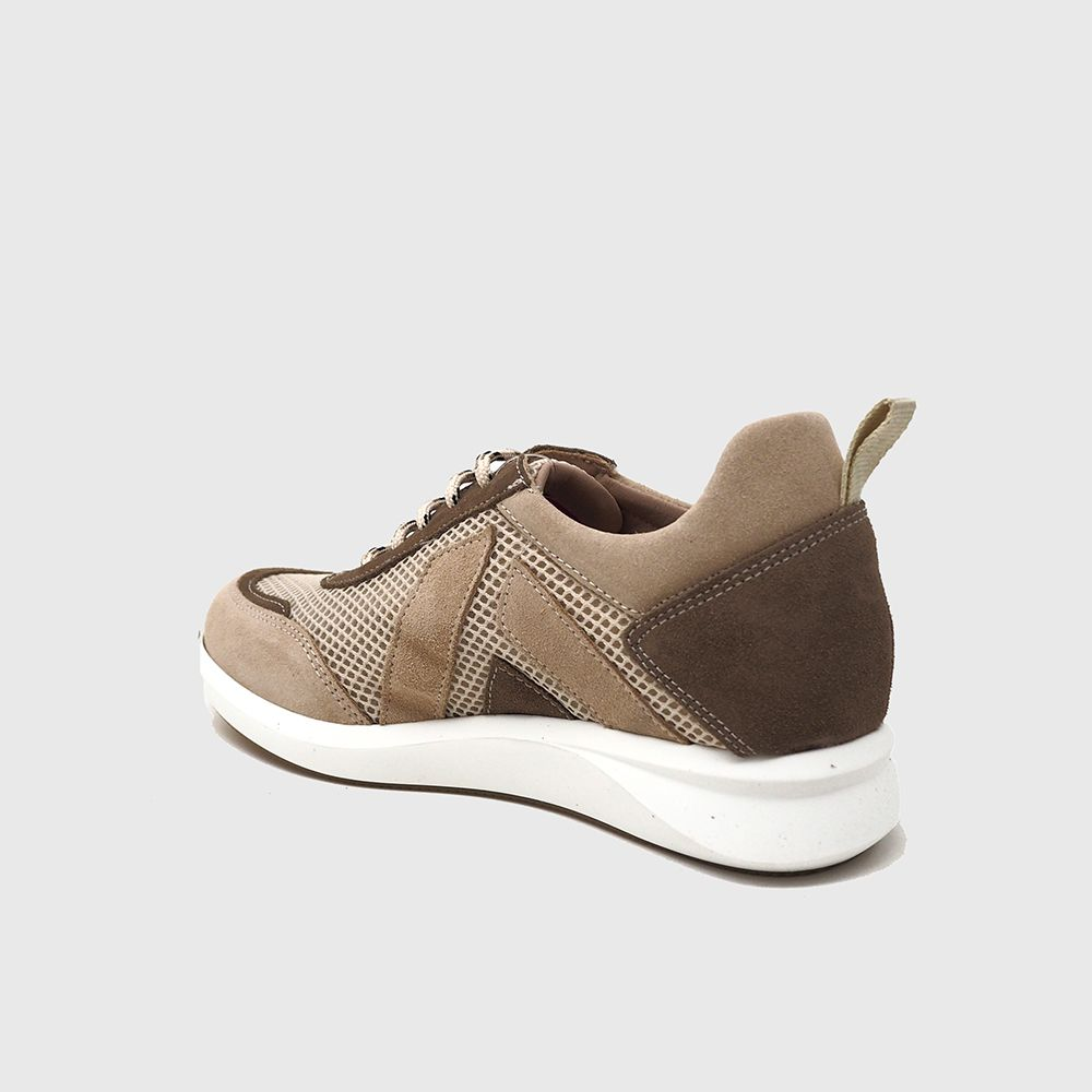 Load image into Gallery viewer, Sneakers Farger Suede and Textile beige