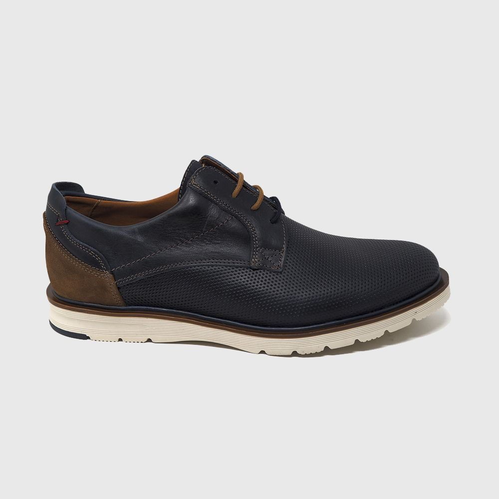 Bill lace shoe in blue leather