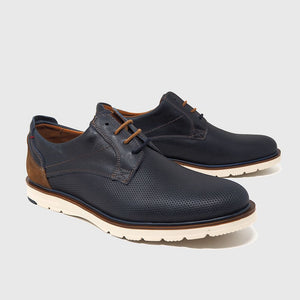 Load image into Gallery viewer, Bill lace shoe in blue leather