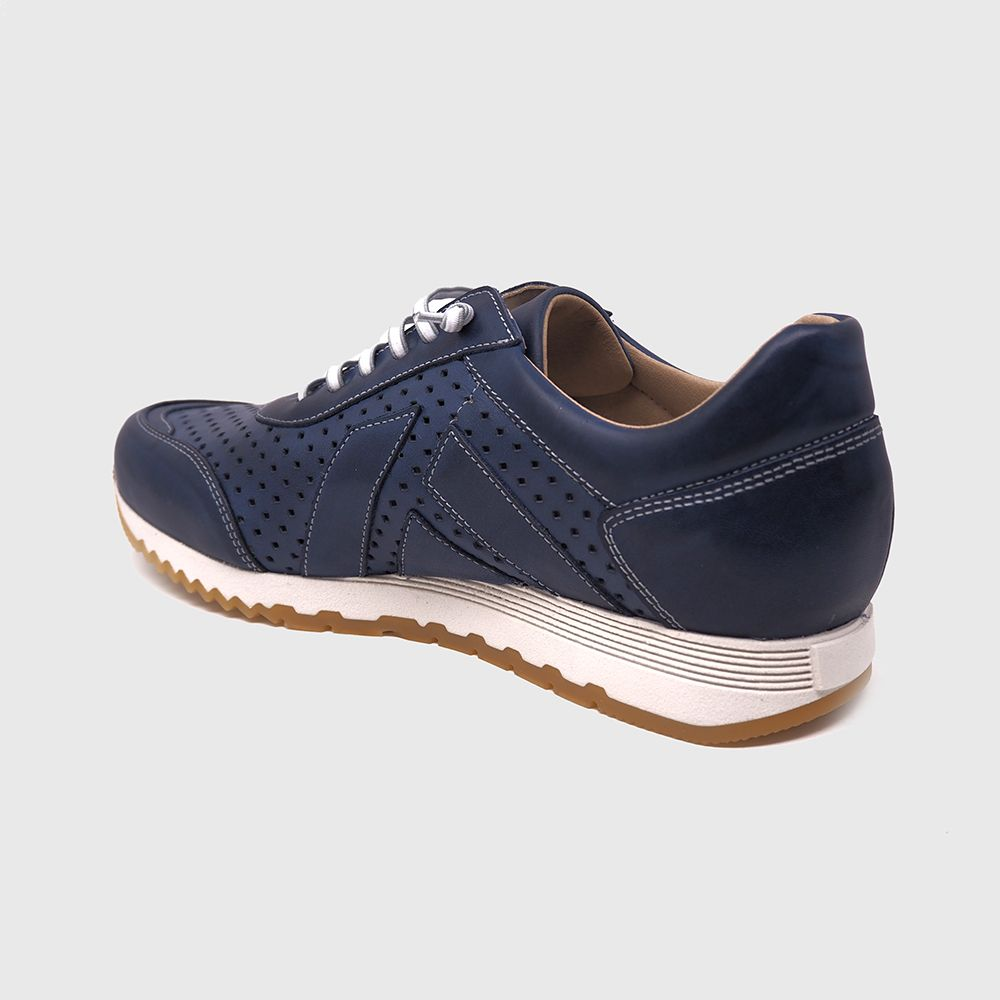 Load image into Gallery viewer, Blake sneakers in chopped blue leather