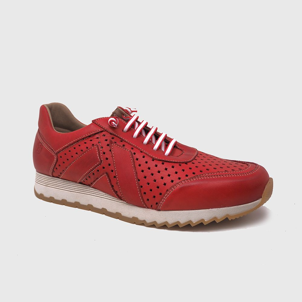 Load image into Gallery viewer, Blake sneakers in red leather