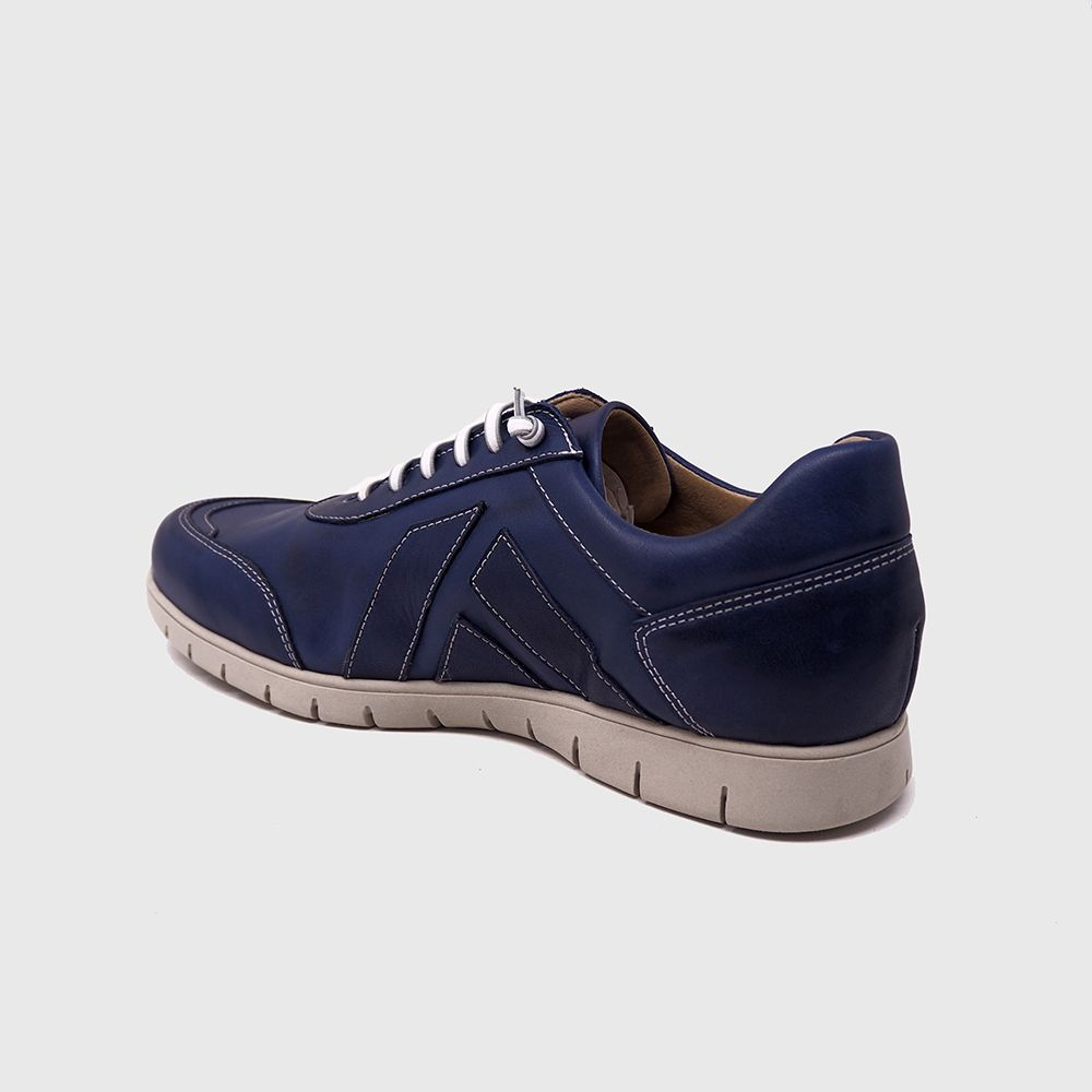 Load image into Gallery viewer, Jordi lace shoe in blue leather