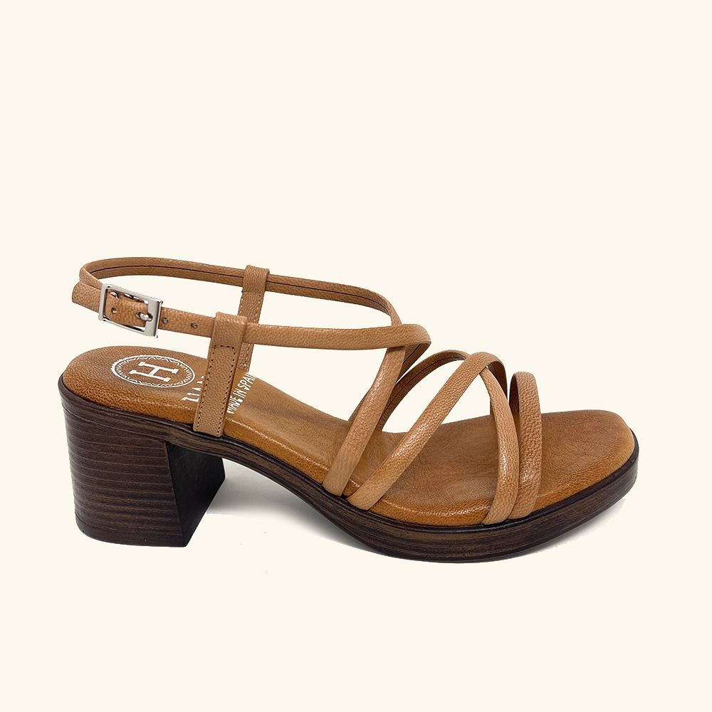Folegandros Leather Heeled Sandals