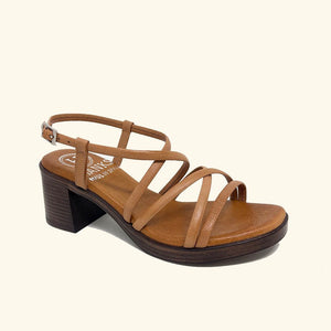 Load image into Gallery viewer, Folegandros Leather Heeled Sandals