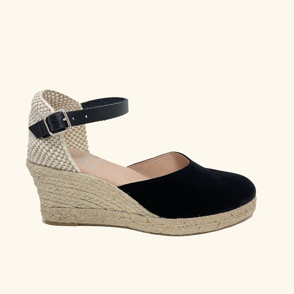 Jute Sandals Amorgos Leather and Black Split Leather