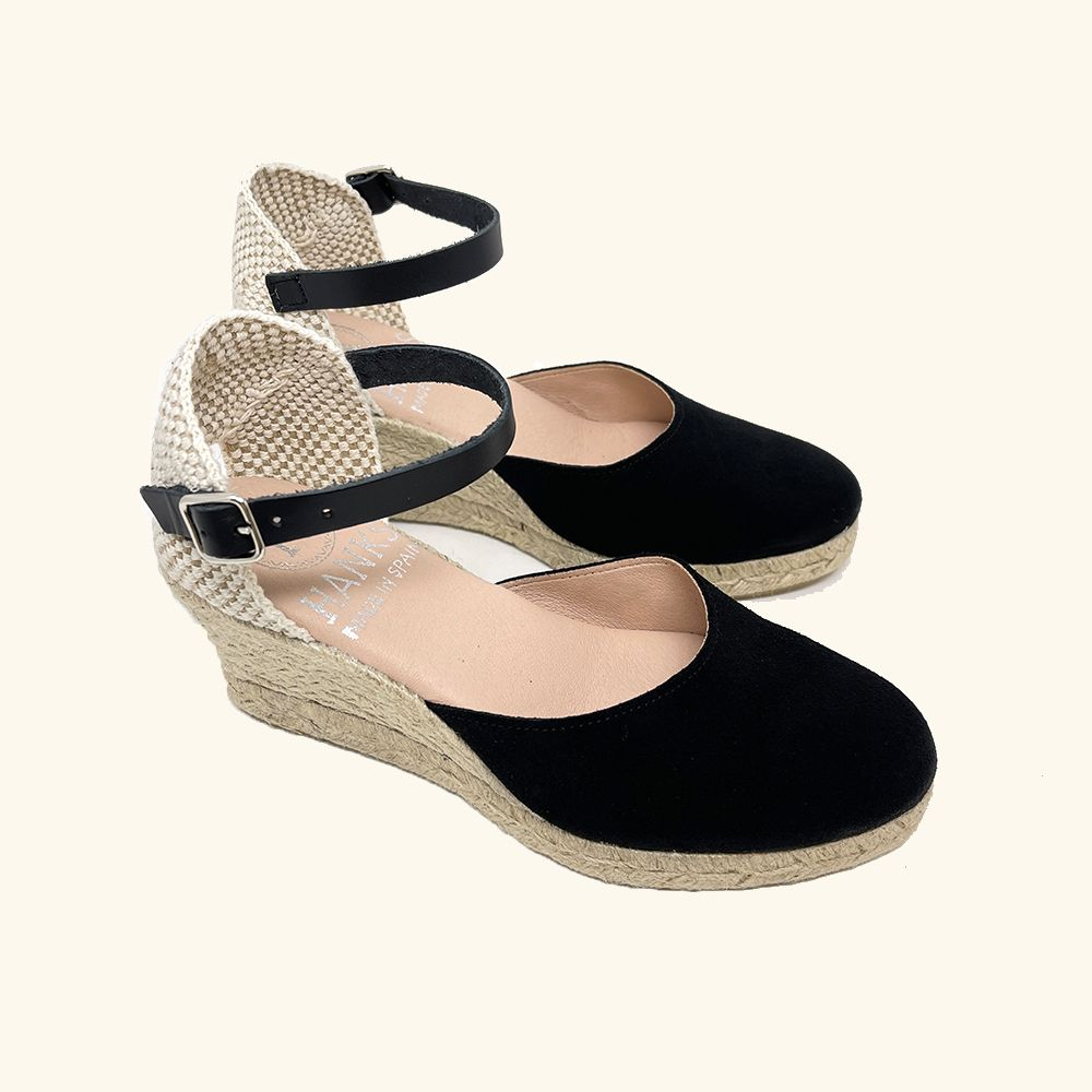 Load image into Gallery viewer, Jute Sandals Amorgos Leather and Black Split Leather