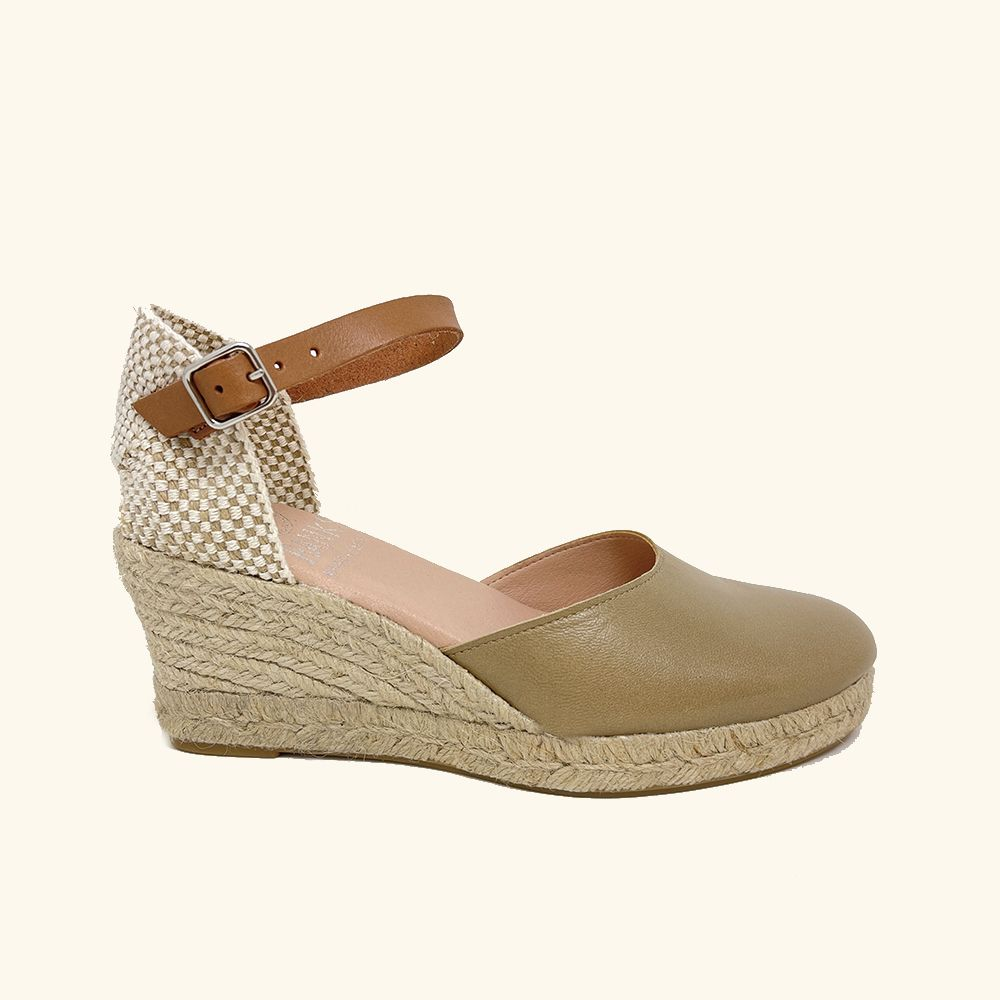 Jute Sandals Amorgos Kaki Leather