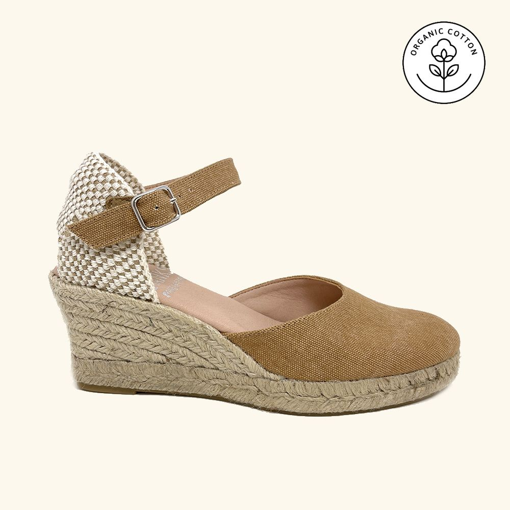 Jute Sandals Amorgos Leather and Leather Textile