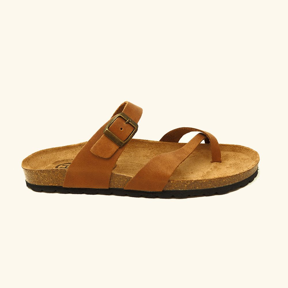 Load image into Gallery viewer, Bio Feroe sandal Camel leather