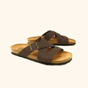 Load image into Gallery viewer, Bio Maldives sandal Brown leather