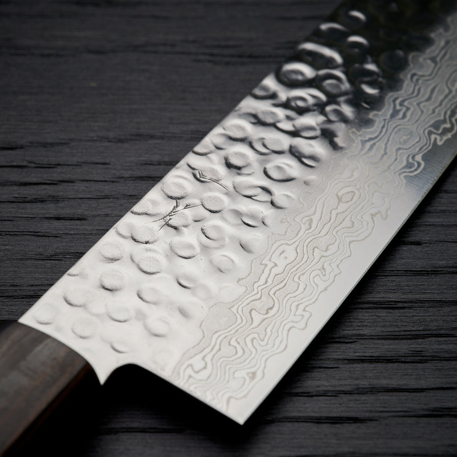 Hitohira HG Tsuchime Damascus Gyuto 210mm Cherry Wood Handle