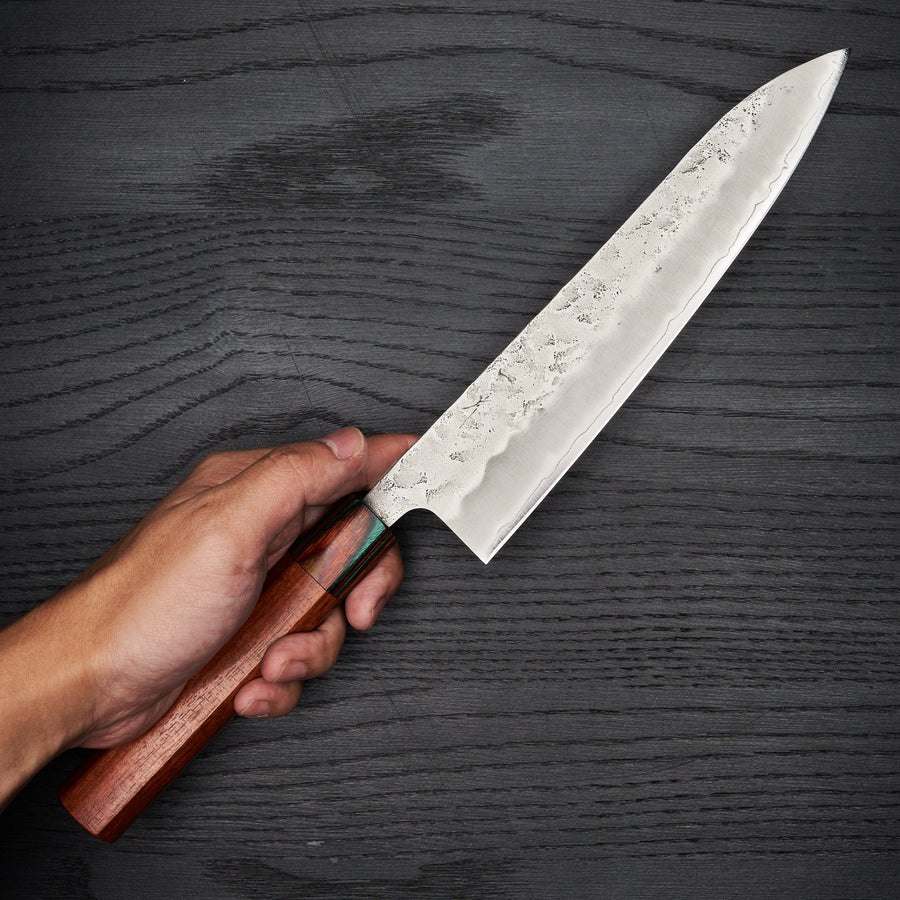 Hitohira Futana S3 Nashiji Gyuto 210mm Wood Handle (Rainbow)