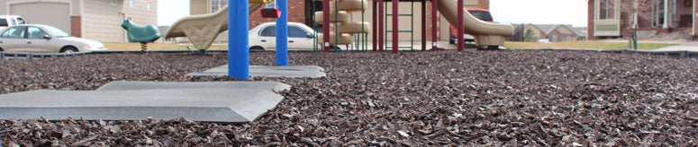Rubber mulch used on a Playground
