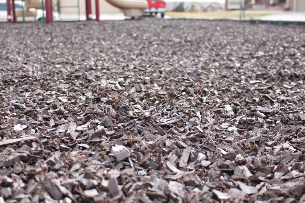 Bulk rubber mulch is great for residential and commercial applications.