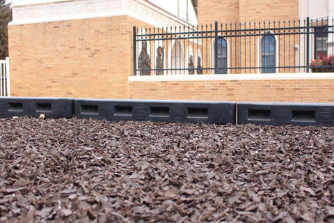 Playground border with ruler. Perfect for schools to determine their surfacing depth.