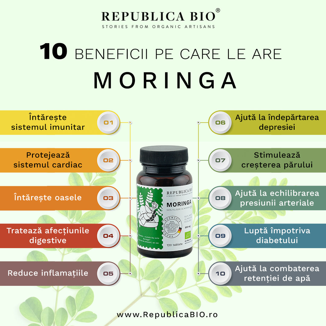 10 beneficii pe care le are Moringa - Republica BIO
