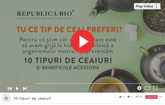 10 tipuri de ceaiuri - Video Republica BIO