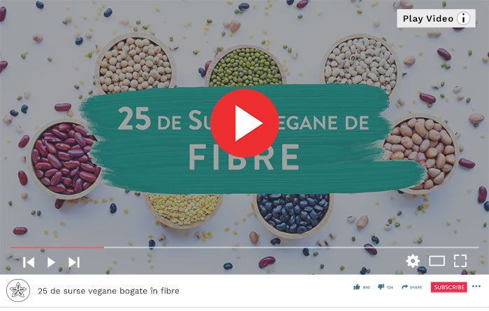 25 de surse vegane bogate în fibre - Video Republica BIO
