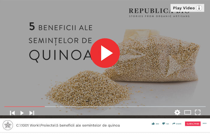 5 beneficii ale semintelor de quinoa - Video Republica BIO
