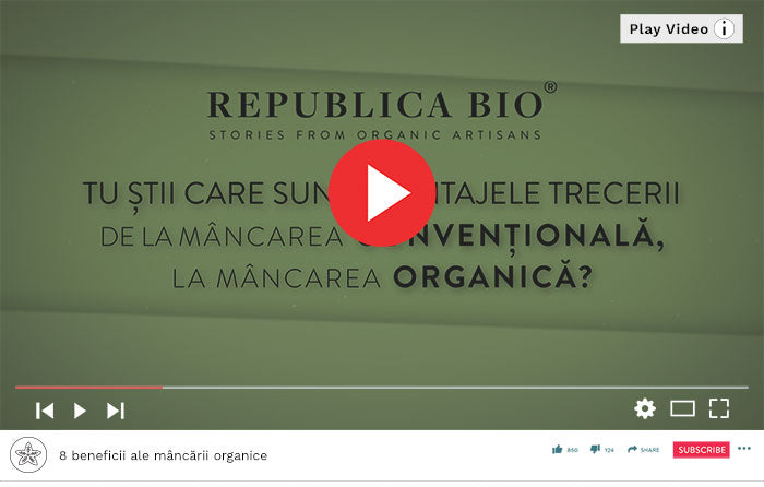 8 beneficii ale mâncării organice- Video Republica BIO