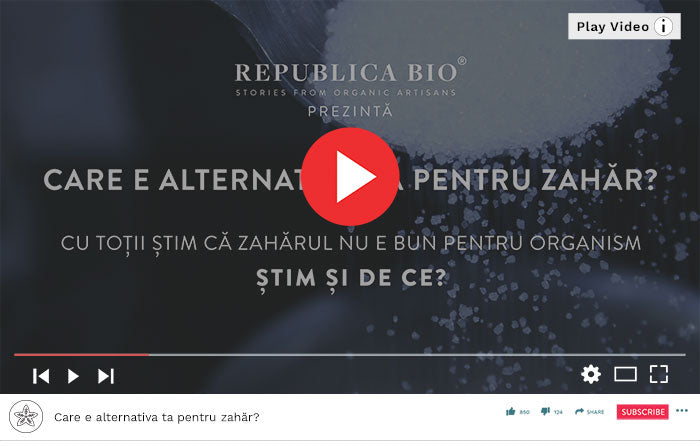 Care e alternativa ta pentru zahăr? - Video Republica BIO