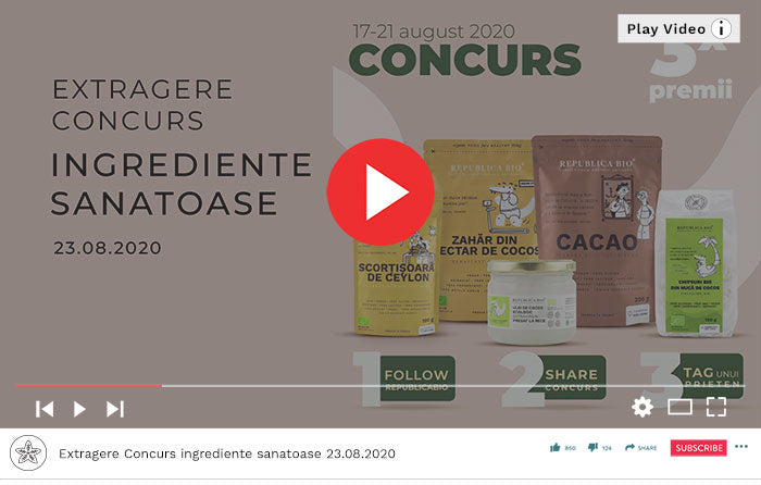 Concurs ingrediente sanatoase, deserturi sanatoase - Video Republica BIO