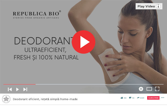 Deodorant eficient, rețetă simplă home-made - Video Republica BIO