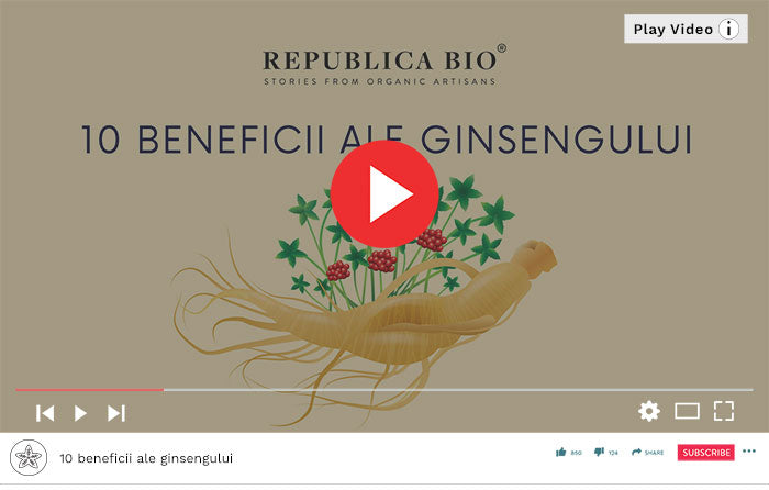 10 beneficii ale ginsengului - Video Republica BIO