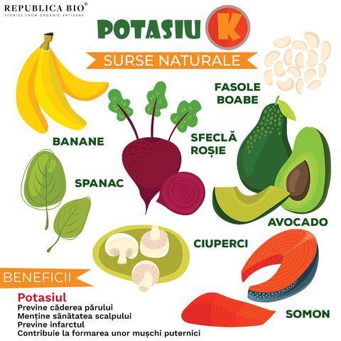 Potasiu - surse naturale - Republica BIO