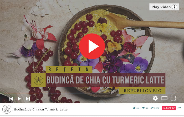 Budincă de Chia cu Turmeric Latte - Video Republica BIO