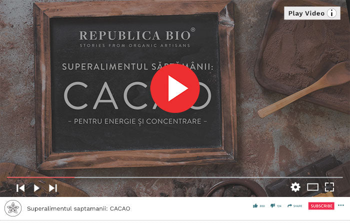Superalimentul saptamanii: CACAO - Video Republica BIO