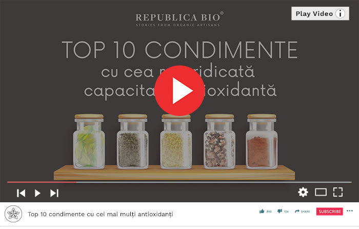 Top 10 condimente cu cei mai mulți antioxidanți - Video Republica BIO