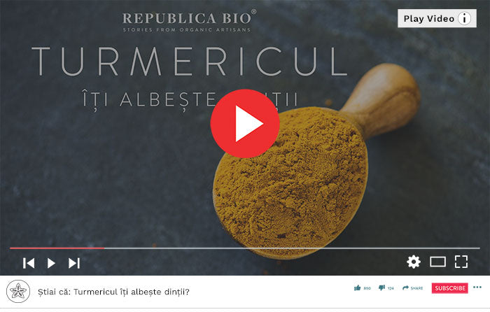 Turmericul îți albește dinții - Video Republica BIO