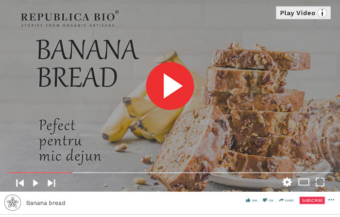 Rețetă simplă de Banana Bread - Video Republica BIO