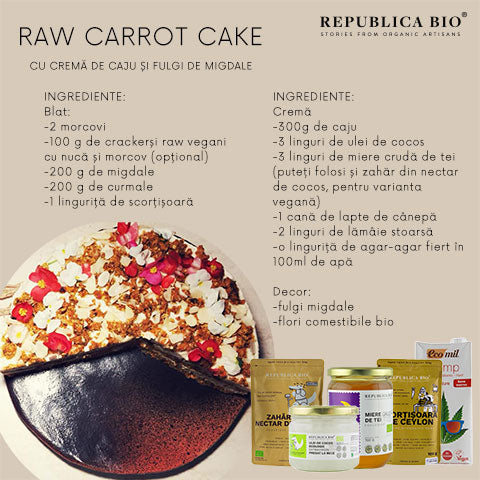 Raw Carrot Cake - Republica BIO