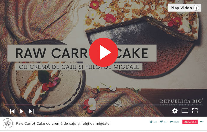 Raw Carrot Cake - Video Republica BIO