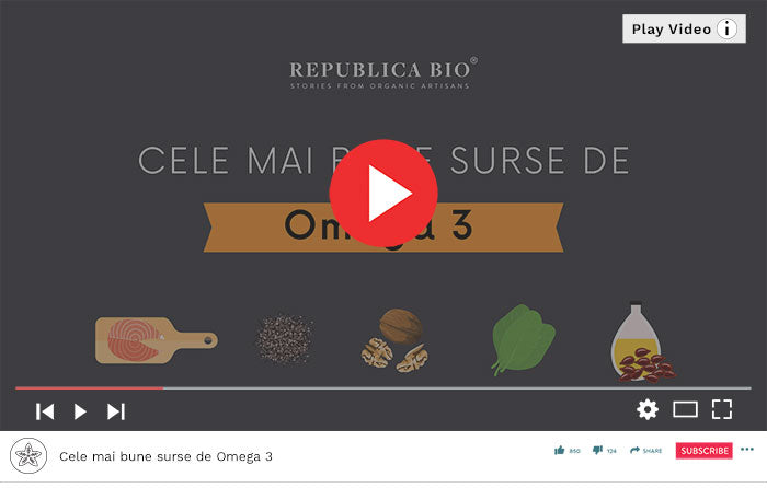 Surse alimentare de Omega 3 - Video Republica BIO
