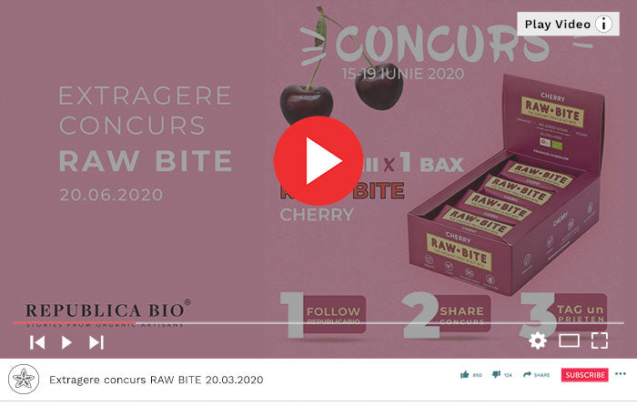 Concurs RAW BITE Cherry - Video Republica BIO