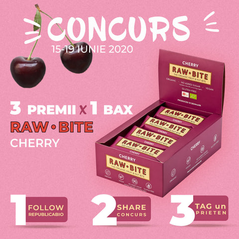 Concurs RAW BITE Cherry - Republica BIO
