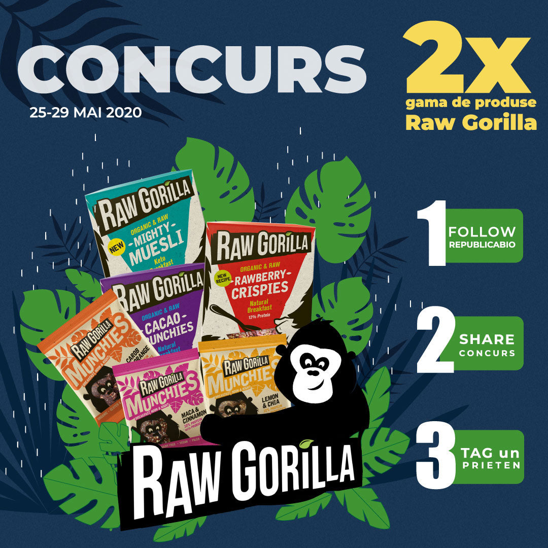 Concurs Raw Gorilla - Republica BIO