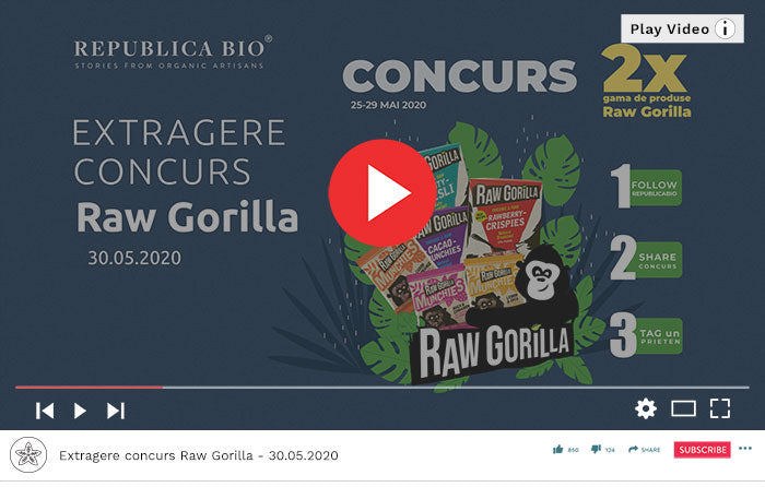 Concurs Raw Gorilla - Video Republica BIO
