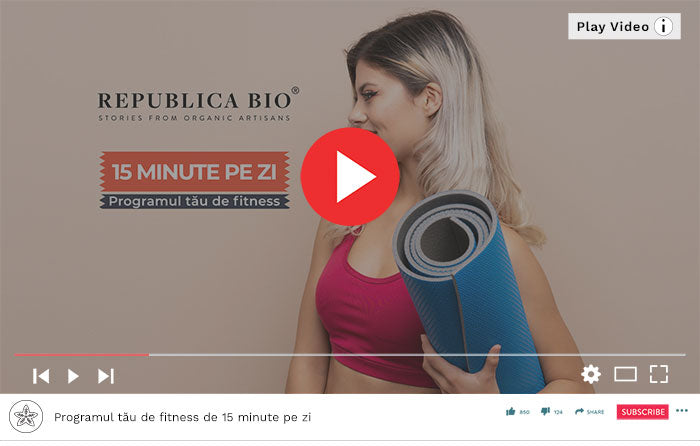 Programul tău de fitness de 15 minute pe zi - Video Republica BIO