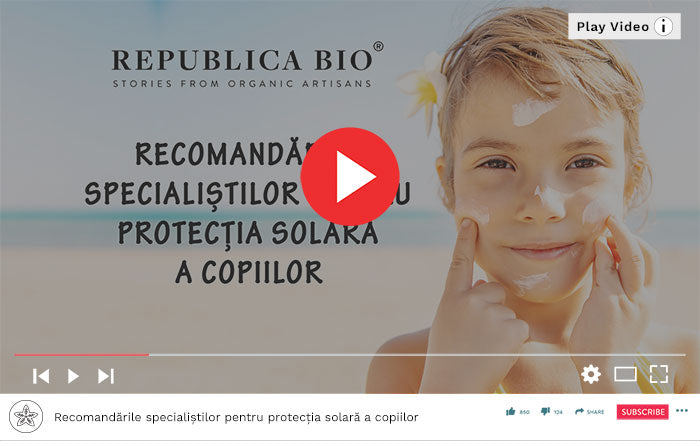 protectie solara copii - Video Republica BIO
